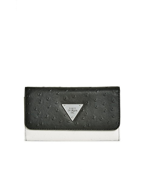 Accesorii Femei GUESS Stanwood Ostrich-Embossed Wallet black multi