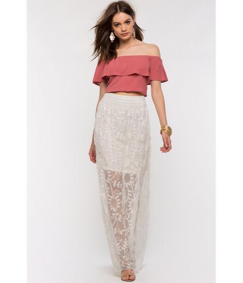 Imbracaminte Femei CheapChic Crochet Maxi Skirt Oatmeal
