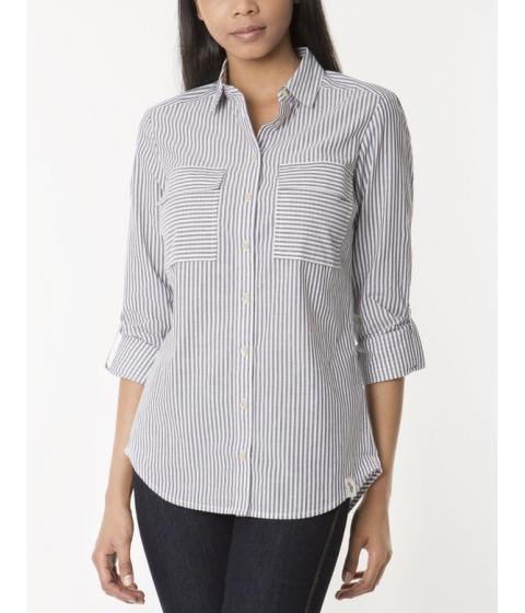 Imbracaminte Femei US Polo Assn Double Pocket Striped Shirt EVENING BLUE