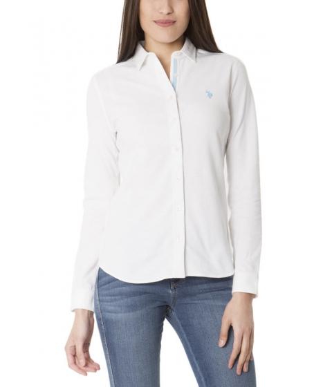 Imbracaminte Femei US Polo Assn Knit Button Up Tee BRIGHT WHITE