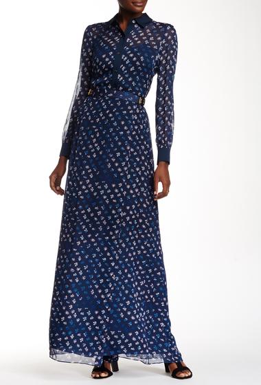 Imbracaminte Femei Diane Von Furstenberg Bethune Print Silk Wrap Maxi Skirt DAISY BUDS TINY NEW INDIGO
