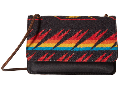Genti Femei Pendleton Slim Wallet w Strap Arrow Path Black