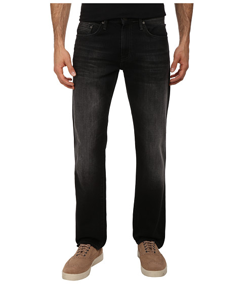 Imbracaminte Barbati Mavi Jeans Zach Regular Rise Straight Leg in Black Brushed Yaletown Black Brushed Yaletown