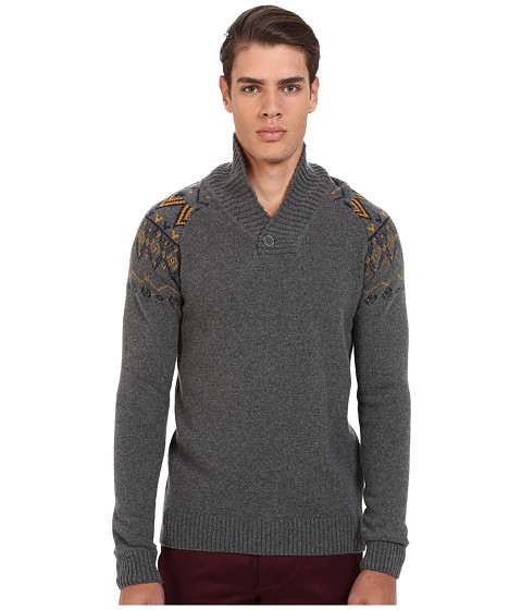 Imbracaminte Barbati Mavi Jeans Tribal Print on Upper Arms Sweater Mid Grey Melange