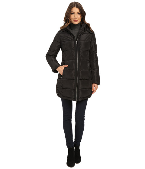 Imbracaminte Femei Mavi Jeans Hooded Long Coat Black