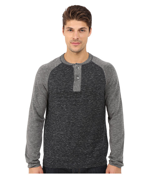 Imbracaminte Barbati Agave Denim Long Sleeve Henley Fine Gauge Color Block Caviar