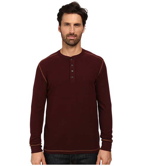 Imbracaminte Barbati Agave Denim Long Sleeve Henley Canvas Cabernet