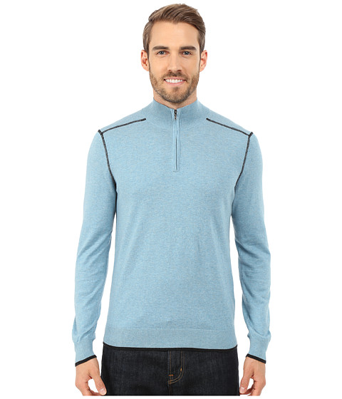Imbracaminte Barbati Agave Denim Long Sleeve Mock Neck 14 Zip Adriatic Blue