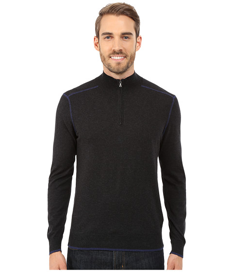 Imbracaminte Barbati Agave Denim Long Sleeve Mock Neck 14 Zip Caviar