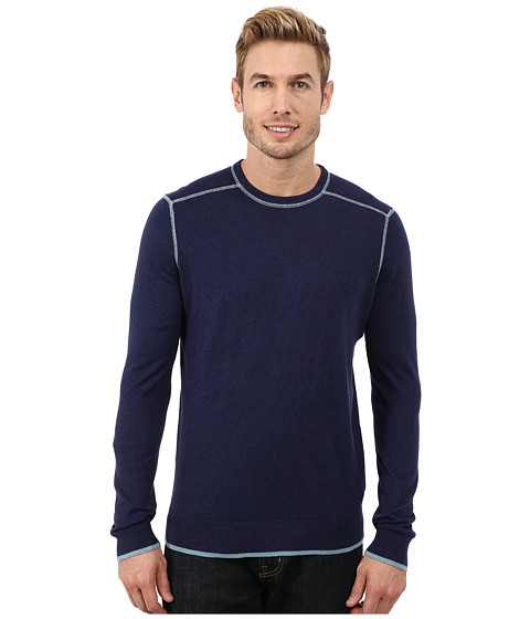 Imbracaminte Barbati Agave Denim Long Sleeve Crew Neck Fine Gauge Medieval Blue