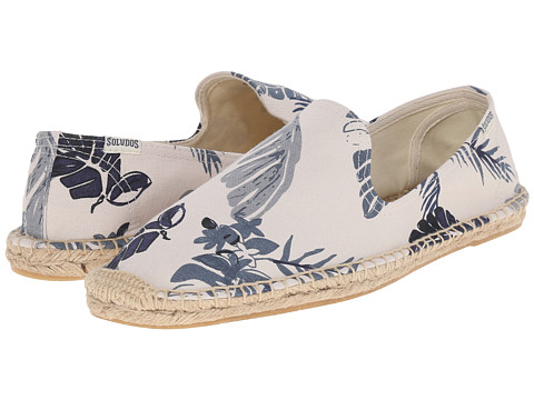 Incaltaminte Barbati Soludos Smoking Slipper Print Tropical Print Natural Blue