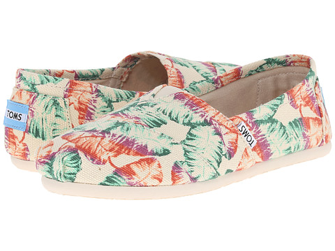 Incaltaminte Femei TOMS Seasonal Classics Multi Burlap Printed Tropical