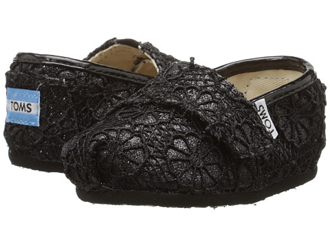 Incaltaminte Fete TOMS Seasonal Classics (InfantToddlerLittle Kid) Black Crochet Glitter