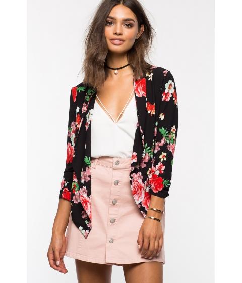Imbracaminte Femei CheapChic Rose Garden Fly Away Blazer Black Prt