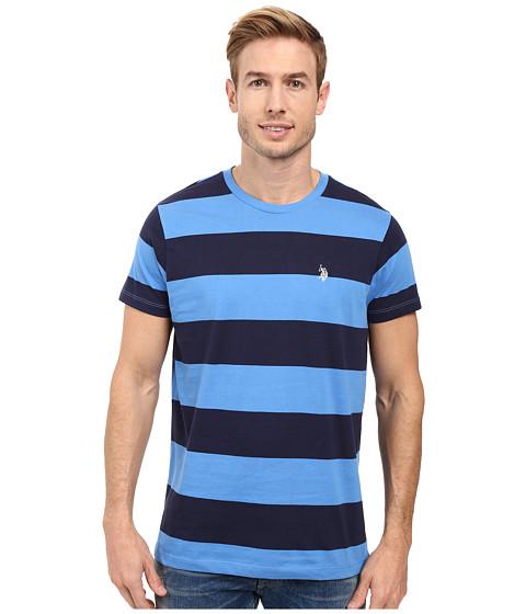 Imbracaminte Barbati US Polo Assn Rugby Stripe Crew Neck T-Shirt Regatta