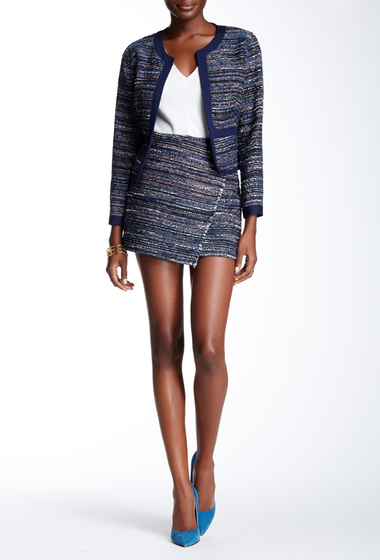 Imbracaminte Femei Diane Von Furstenberg Austyn Asymmetrical Skirt BLACK-INDIGO-CAMELLIA
