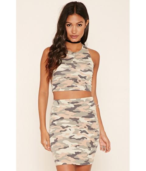Imbracaminte Femei Forever21 Camo Print Midi Skirt Oliveblack