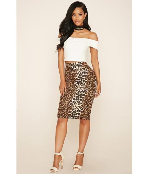 Imbracaminte Femei Forever21 Cheetah Print Skirt Brownblack