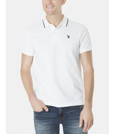 Imbracaminte Barbati US Polo Assn Slim Fit Pique Polo Shirt White