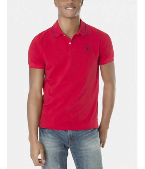 Imbracaminte Barbati US Polo Assn Slim Fit Pique Polo Shirt Engine Red