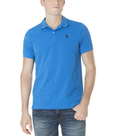 Imbracaminte Barbati US Polo Assn Slim Fit Pique Polo Shirt BLUE TILE