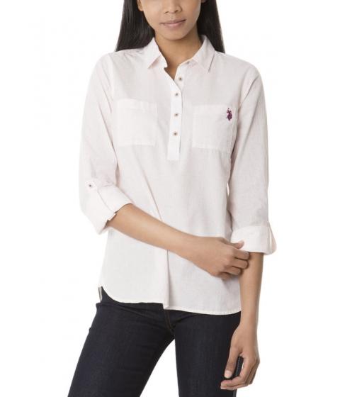 Imbracaminte Femei US Polo Assn Popover Dot Print Shirt POWDER PINK