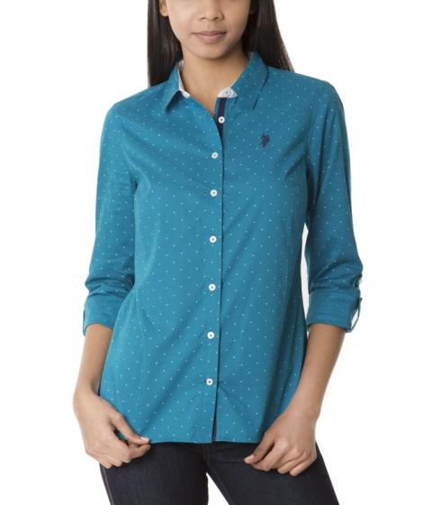 Imbracaminte Femei US Polo Assn Dot Print Shirt OCEAN DEPTHS