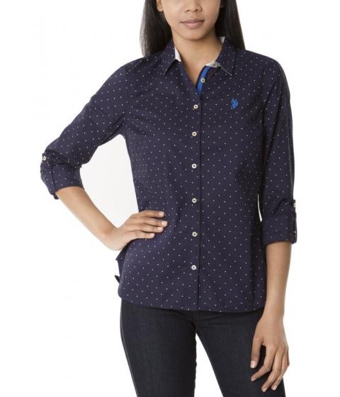 Imbracaminte Femei US Polo Assn Dot Print Shirt EVENING BLUE