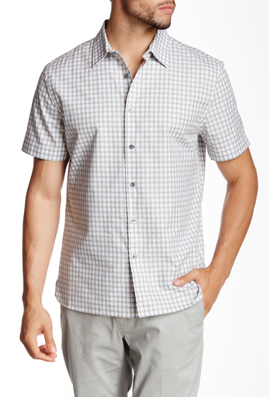 Imbracaminte Barbati Perry Ellis Heather Checkered Shirt BRIGHT WHITE