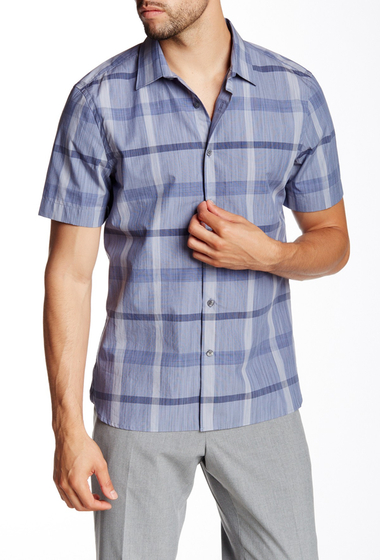 Imbracaminte Barbati Perry Ellis Slim Fit Plaid Shirt BERING SEA