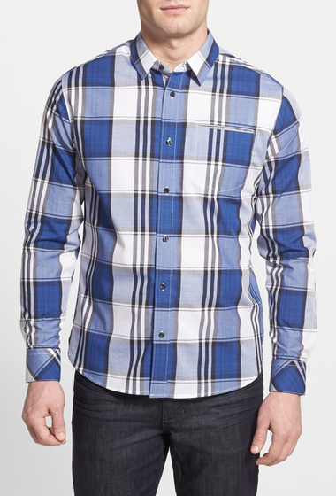 Imbracaminte Barbati 7 Diamonds New Moves Plaid Shirt NAVY