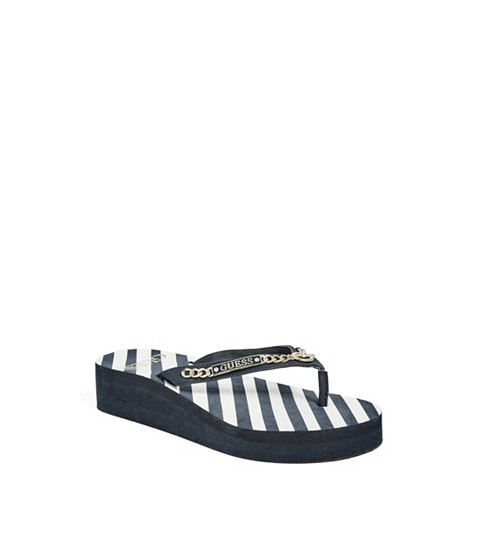 Incaltaminte Femei GUESS Marlow Wedge Flip-Flops dark blue