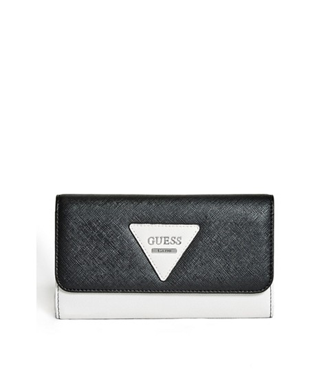 Accesorii Femei GUESS Darcie Color-Blocked Slim Wallet black multi