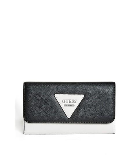 Accesorii Femei GUESS Darcie Color-Blocked Slim Wallet black multi