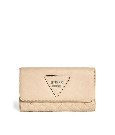 Accesorii Femei GUESS Darcie Quilted Slim Wallet nude