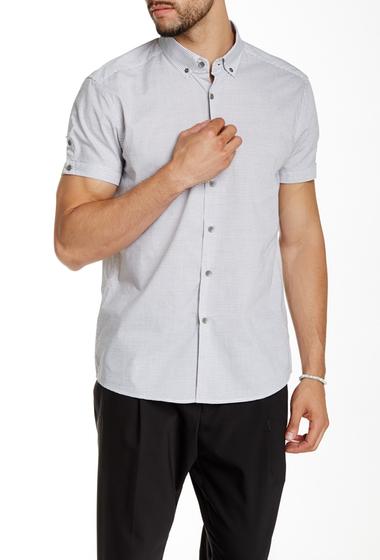 Imbracaminte Barbati Kenneth Cole New York Striped Short Sleeve Shirt Black Combo