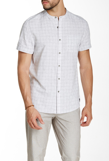 Imbracaminte Barbati Kenneth Cole New York Check Print Short Sleeve Shirt White Combo