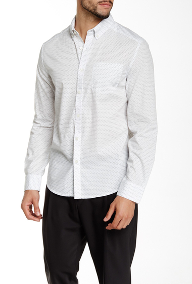 Imbracaminte Barbati Kenneth Cole New York Printed Long Sleeve Shirt White Combo