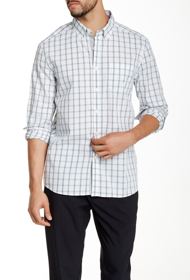 Imbracaminte Barbati Kenneth Cole New York Plaid Long Sleeve Shirt Palm Combo