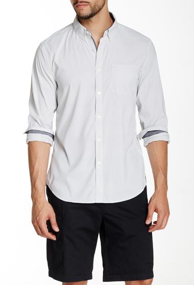 Imbracaminte Barbati Kenneth Cole New York Striped Long Sleeve Slim Fit Shirt Black Combo