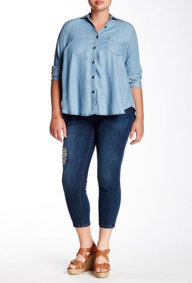 Imbracaminte Femei KUT from the Kloth Emma Ankle Straight Leg Jean Plus Size ROSE W-DK STONE