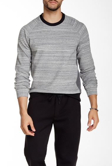 Imbracaminte Barbati Kenneth Cole New York Bonded Heathered Crew Neck Sweatshirt Heather Grey