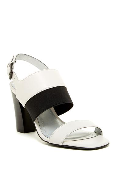 Incaltaminte Femei Tahari Peace Heel Sandal SPR WHITE-BLK