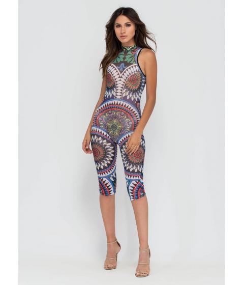Imbracaminte Femei CheapChic Mystical Mandalas Sheer Cropped Jumpsuit Multi