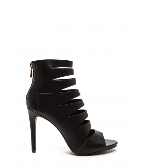 Incaltaminte Femei CheapChic What's The Skinny Cut-out Caged Heels Black