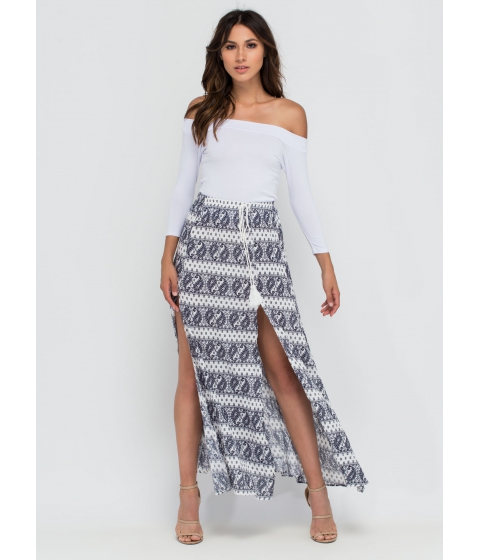Imbracaminte Femei CheapChic Bohemian Flow Paisley Maxi Skirt White