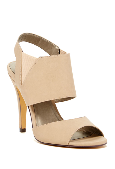 Incaltaminte Femei Michael Antonio Loop Peep Toe Heel Natural