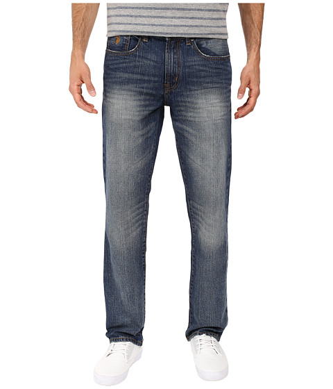 Imbracaminte Barbati US Polo Assn Straight Leg Five-Pocket Denim Jeans in Blue Blue