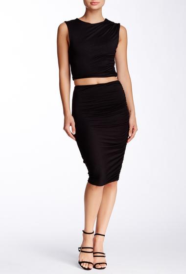 Imbracaminte Femei Soprano Ruched Midi Skirt BLACK