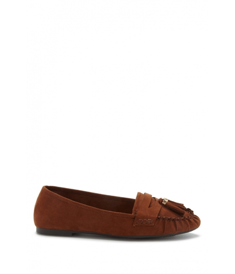 Incaltaminte Femei Forever21 Faux Suede Tasseled Loafers Camel
